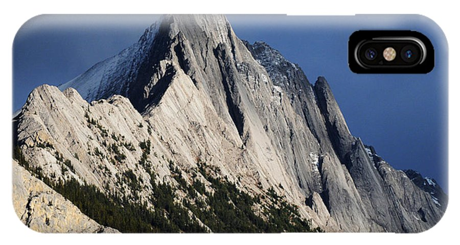 Mountain IPhone X Case featuring the photograph Majesty In The Canadian Rockies by Vivian Christopher