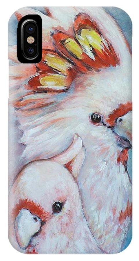 Ekaterina Mortensen IPhone X Case featuring the painting Major Mitchell Mates 2 by Ekaterina Mortensen