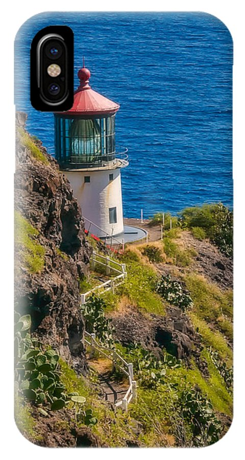 Landscape IPhone X Case featuring the photograph Makapu'u Point Lighthouse by Marlene Lebel