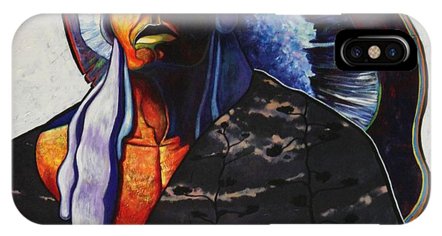 Native American IPhone Case featuring the painting Make Me Worthy by Joe Triano