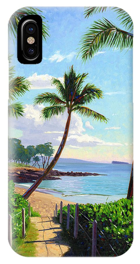 Makena IPhone Case featuring the painting Makena Beach - Maui by Steve Simon