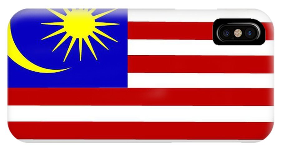 Malaysia IPhone X Case featuring the digital art Malaysia Flag by Frederick Holiday