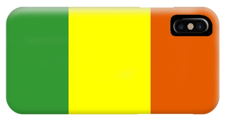 Mali IPhone X Case featuring the digital art Mali Flag by Frederick Holiday