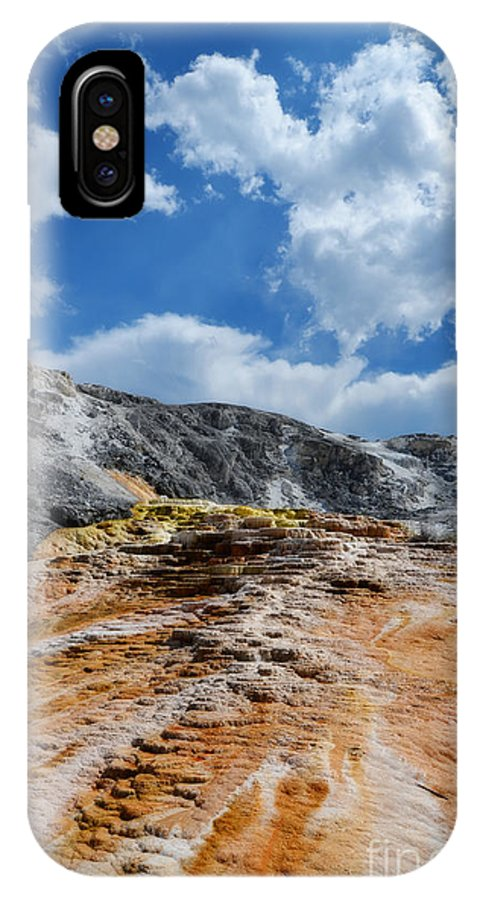 Mammoth Hot Springs IPhone X Case featuring the photograph Mammoth Hot Springs by Rachel Barrett