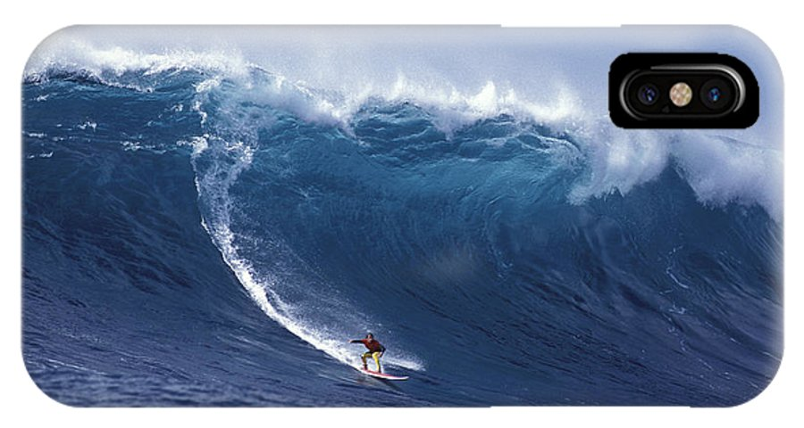 Surf Big Wave IPhone X Case featuring the photograph Man Vs Mountain by Sean Davey