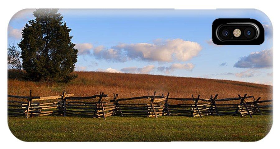 Landscape IPhone X Case featuring the photograph Manassas Battlefield by Ken Howard