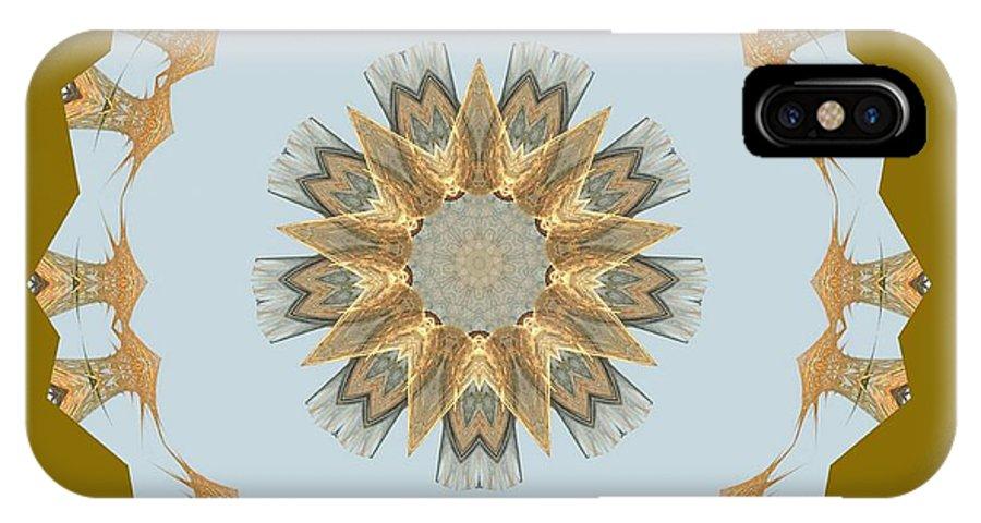 Mandala 014-8 IPhone X Case featuring the digital art Mandala 014-8 by Maria Urso