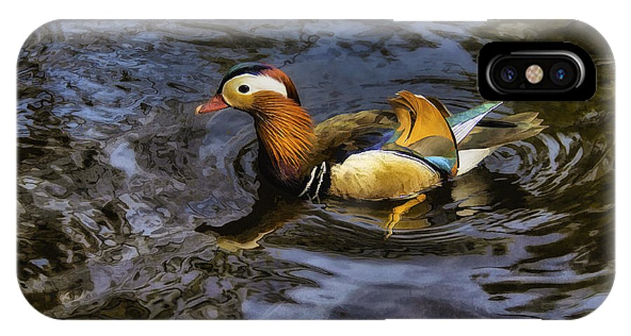 Duck IPhone X Case featuring the photograph Mandarin Duck by Ian Mitchell