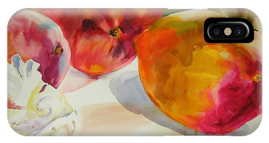 Art IPhone X Case featuring the painting Mangoes by Julianne Felton