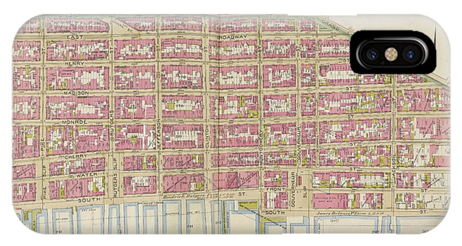 Manhattan double page plate no 6 map bounded by division for Background image of div