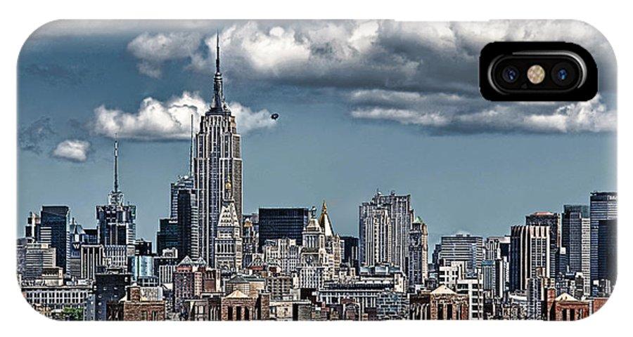 Nyc IPhone X Case featuring the photograph Manhattan-skyline by Joachim G Pinkawa
