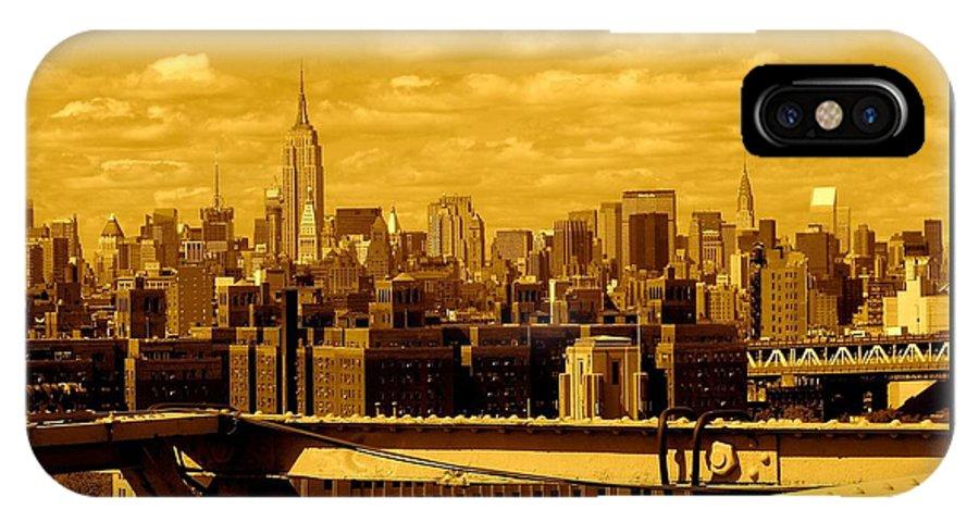 Manhattan Ny Prints IPhone X Case featuring the photograph Manhattan Skyline by Monique's Fine Art