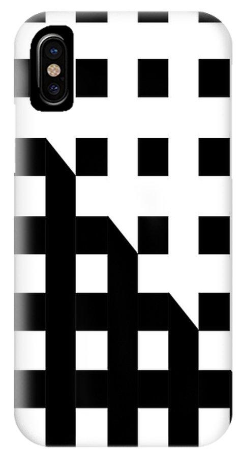 Shadow IPhone X Case featuring the digital art Manhattan Sunrise by Ginny Schmidt