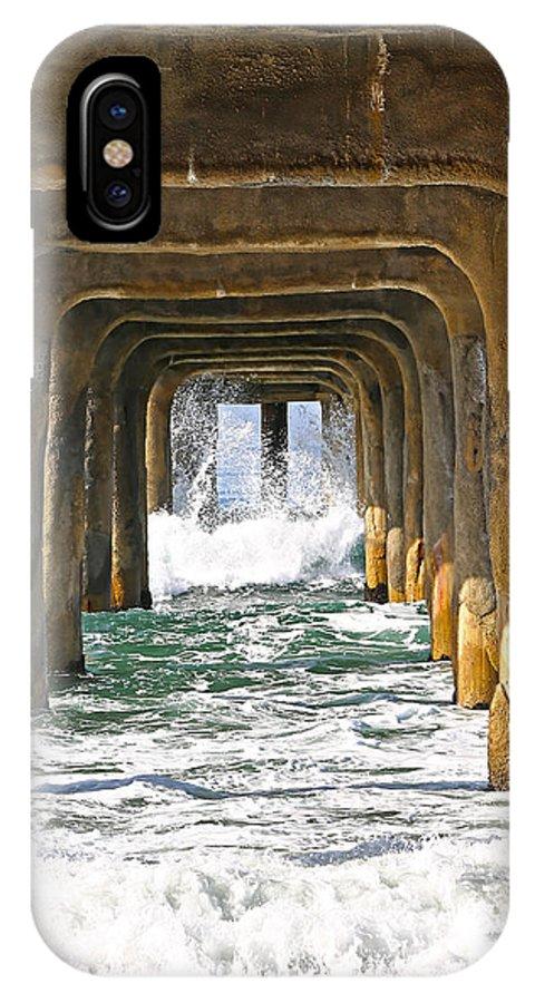 Manhattan Pier IPhone X Case featuring the photograph Manhattan Surf by Michael Hope