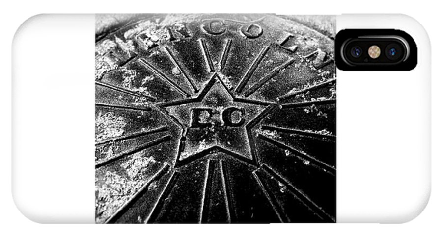 Manhole Cover IPhone X Case featuring the photograph Manhole_11.04.12 by Paul Hasara