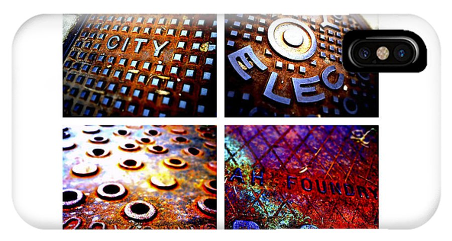 Manhole Cover IPhone X Case featuring the photograph Manholes_06.02.12 by Paul Hasara
