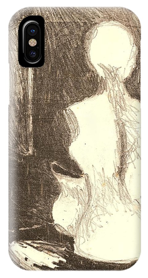 Mannequin IPhone X Case featuring the drawing Mannequin Life by Kendall Kessler