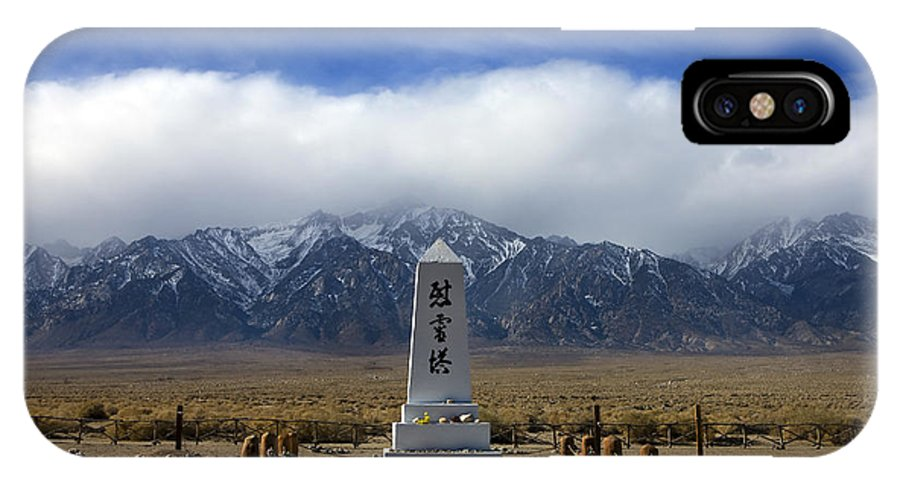 Travel IPhone X Case featuring the photograph Manzanar National Historic Site by Jason O Watson