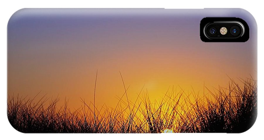 Sunset IPhone X Case featuring the photograph Manzanita Oreegon by Tyler Duvall