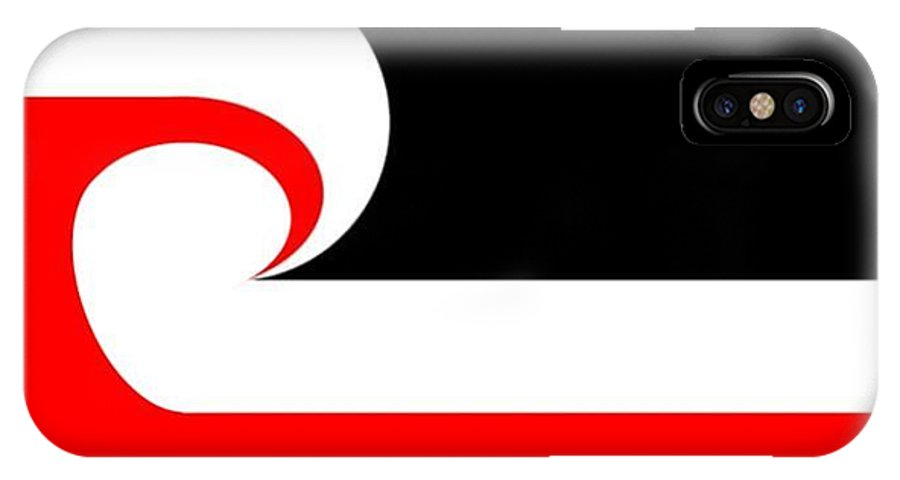 Maori IPhone X Case featuring the digital art Maori Flag by Frederick Holiday