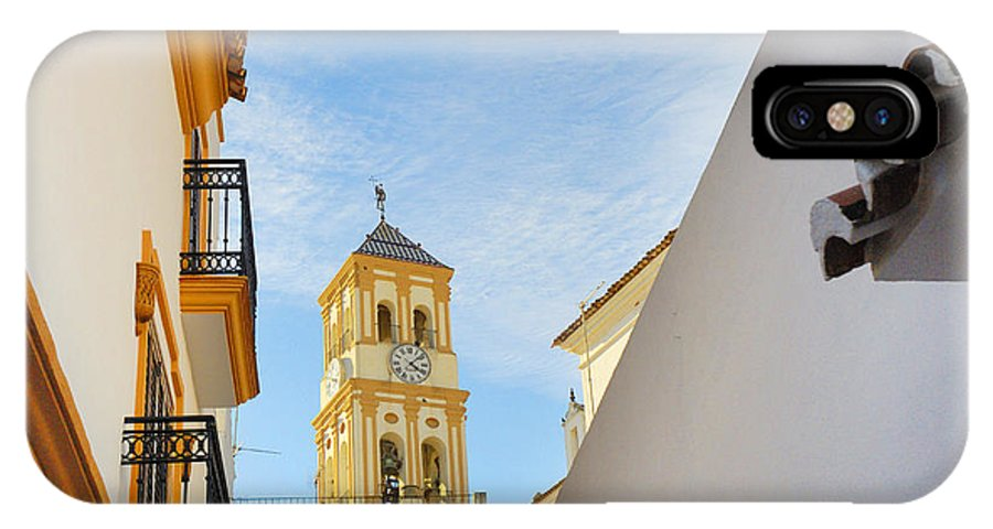 Sunset IPhone X Case featuring the photograph Marbella Old Town by Brenda Kean