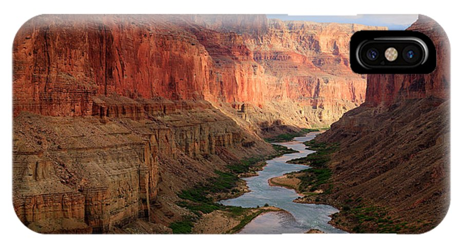 America IPhone X Case featuring the photograph Marble Canyon - April by Inge Johnsson