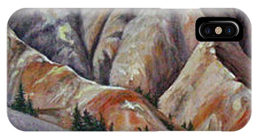 Mountains IPhone X Case featuring the painting Marble Ridge by Elaine Booth-Kallweit