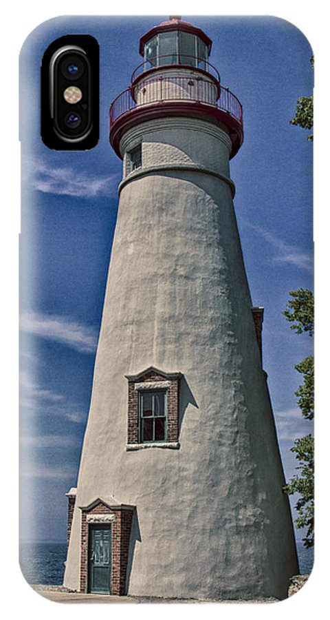 Erie IPhone X Case featuring the photograph Marblehead Lighthouse Lake Erie by Jack R Perry