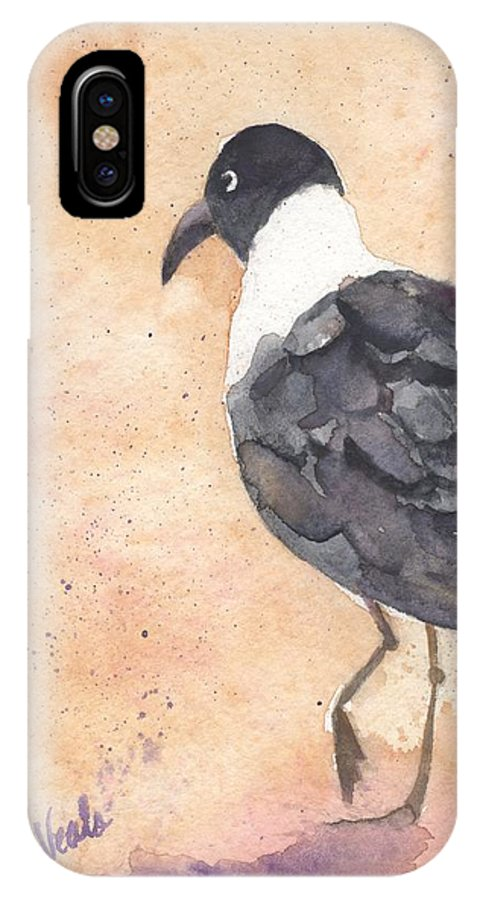 Laughing Gull IPhone X Case featuring the painting March Of The Laughing Gull by Bev Veals