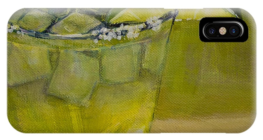 Cocktail IPhone X Case featuring the painting Margarita by Sue Darius