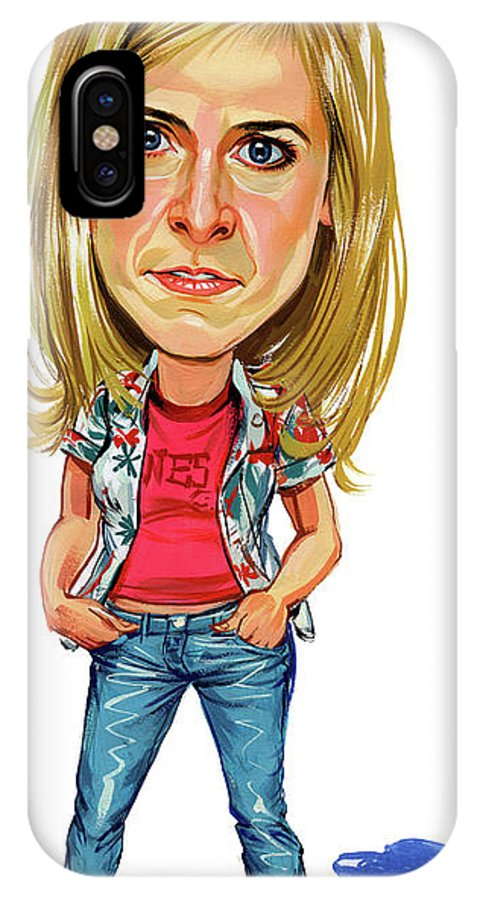 Maria Bamford IPhone X Case featuring the painting Maria Bamford by Art