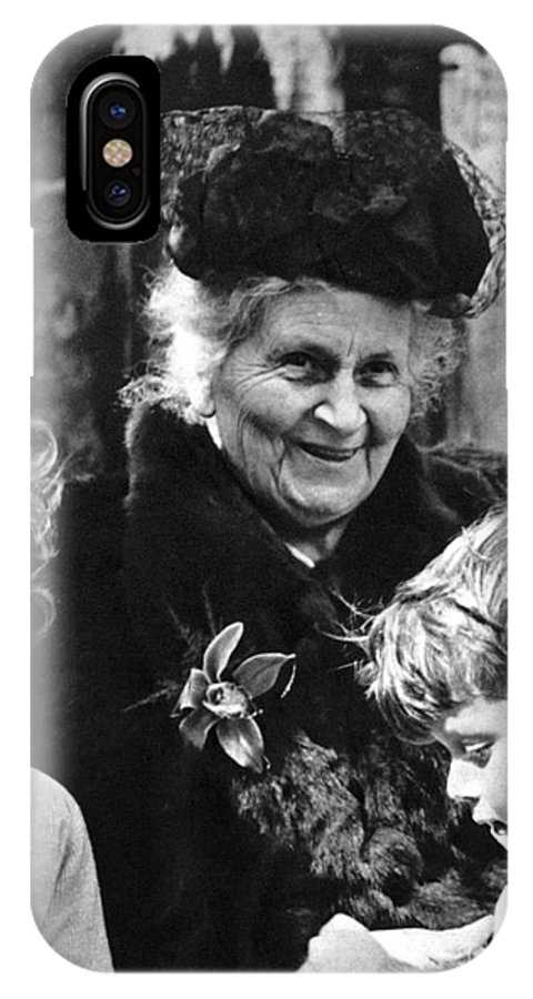 19th Century IPhone X Case featuring the photograph Maria Montessori by Granger