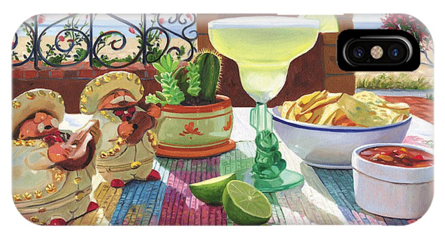 Cocktail IPhone Case featuring the painting Mariachi Margarita by Steve Simon