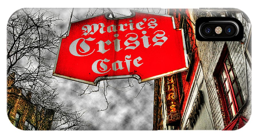 Cafe IPhone X Case featuring the photograph Marie's Crisis Cafe by Randy Aveille