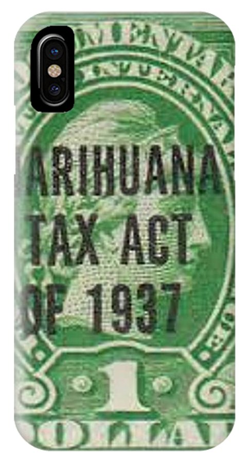 Marihuana Tax Act Of 1937 IPhone X Case