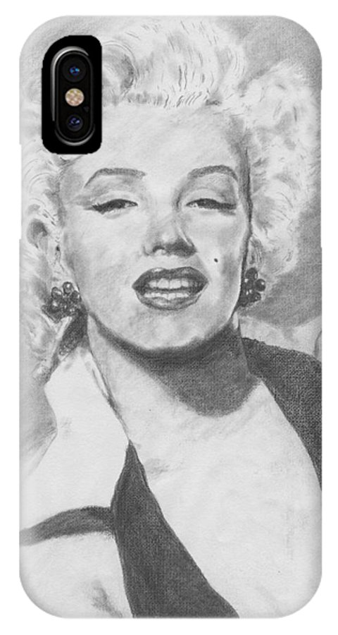Marilyn IPhone Case featuring the drawing Marilyn. by Janice Gell