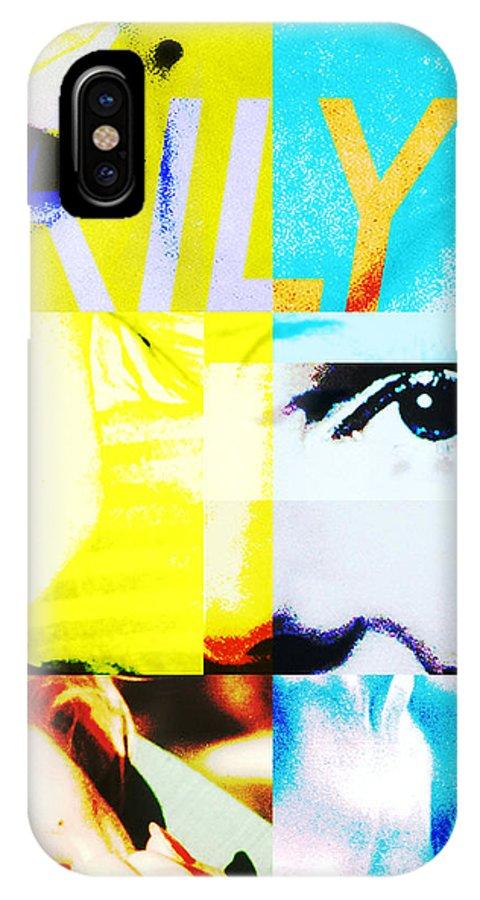 Marilyn Monroe IPhone X Case featuring the digital art Marilyn Monroe by Patricia Hubert