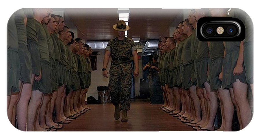 Marines IPhone X Case featuring the photograph Marine Basic Training by Mountain Dreams