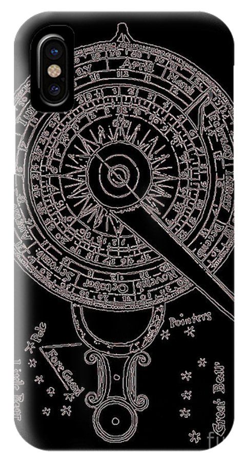 Antiquarian Art IPhone X Case featuring the drawing Mariner's New Kalendar Circa 1688 by Unknown