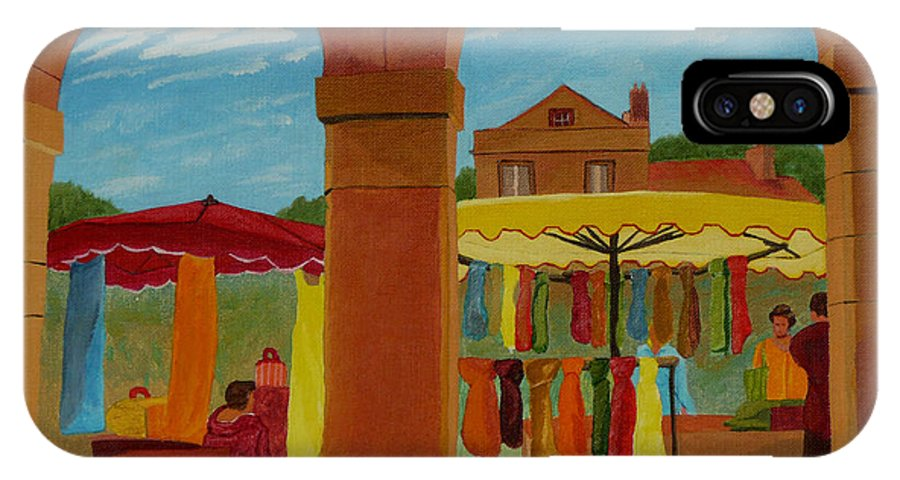 Landscape IPhone X Case featuring the painting Market Day by Anthony Dunphy
