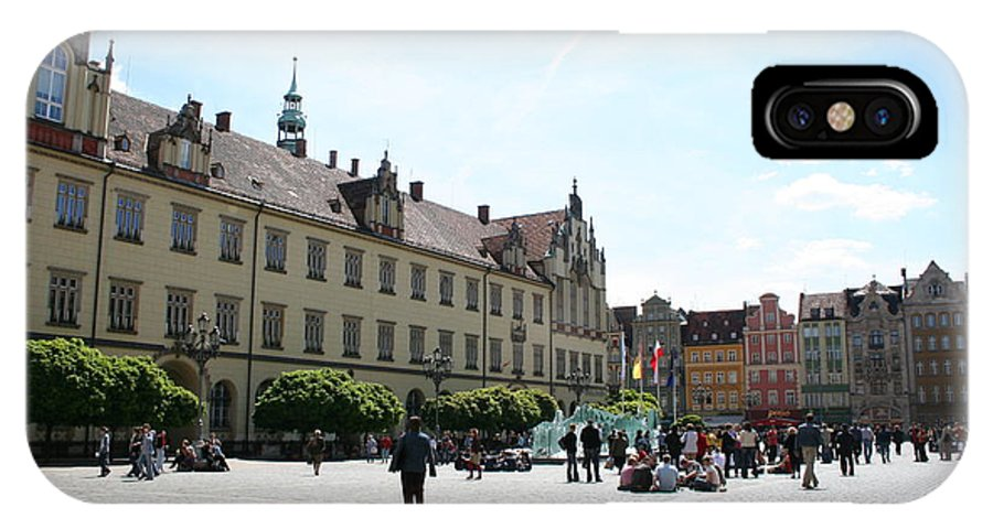 Market Place IPhone X / XS Case featuring the photograph Market Place Wroclaw by Christiane Schulze Art And Photography