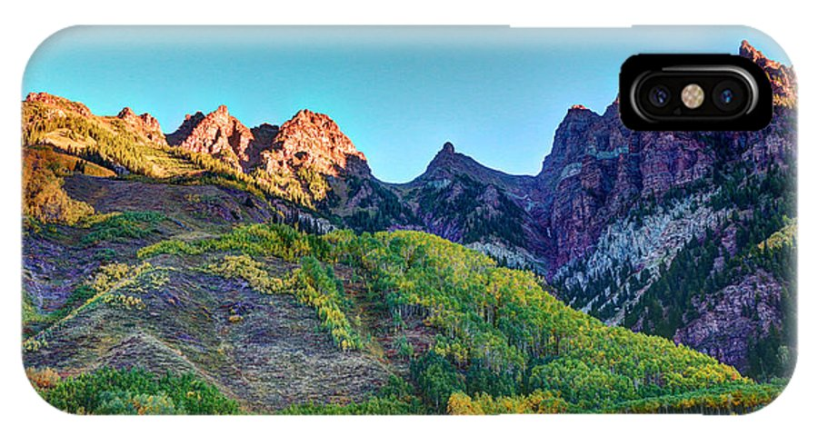 Maroon Bells IPhone X Case featuring the photograph Maroon Bells National Recreation Area by Allen Beatty