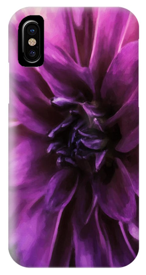 Dahlia IPhone X Case featuring the photograph Marrianne by Jean OKeeffe Macro Abundance Art