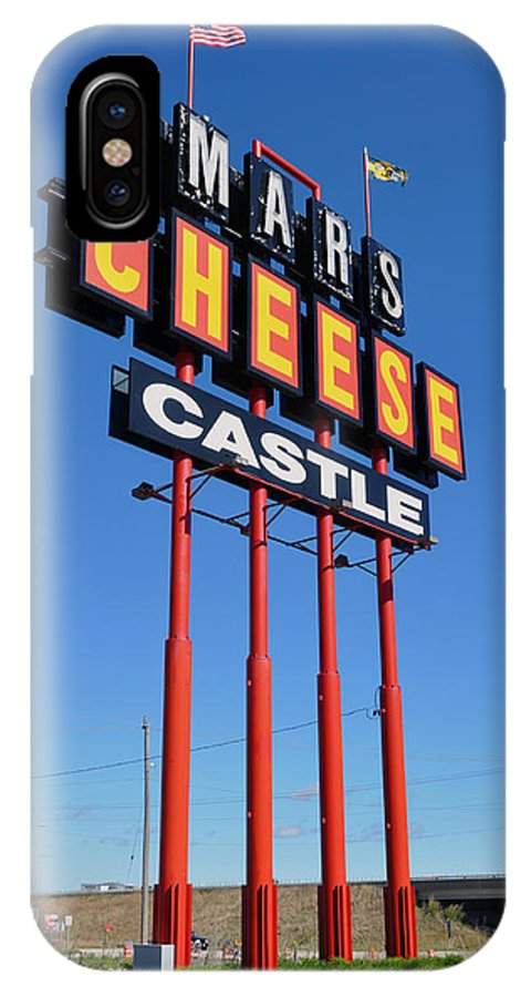 Mars IPhone X Case featuring the photograph Mars Cheese Castle by David Dittmann