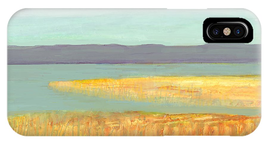 Marsh IPhone X Case featuring the mixed media Marsh Study by Denise Waldron