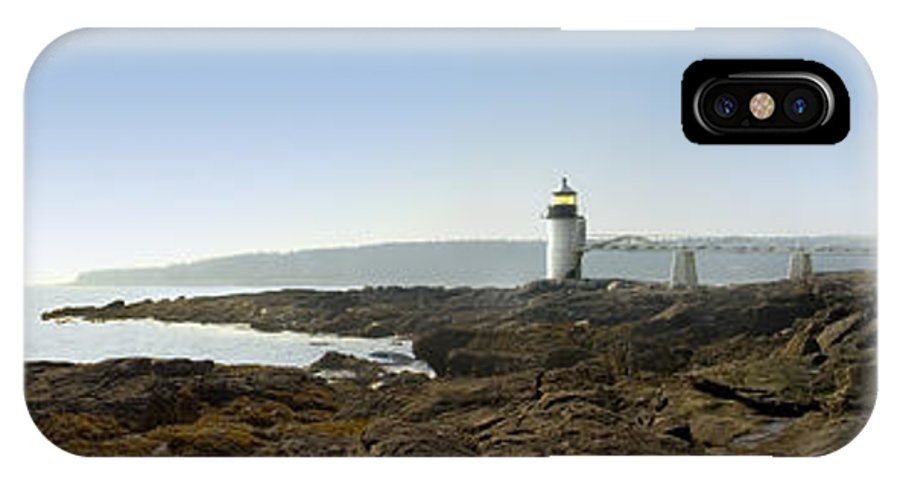 Marshall Point Lighthouse IPhone X Case featuring the photograph Marshall Point Lighthouse - Panoramic by Mike McGlothlen