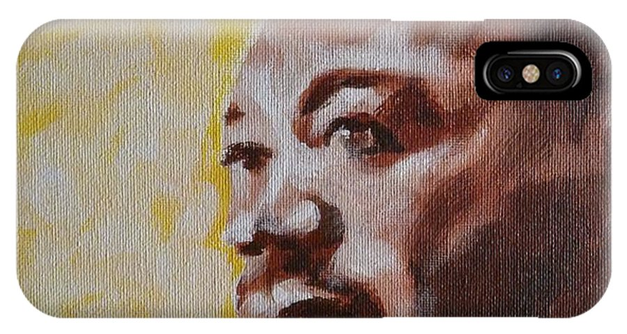 Celebrity IPhone X Case featuring the painting Martin Luther King by David Francke