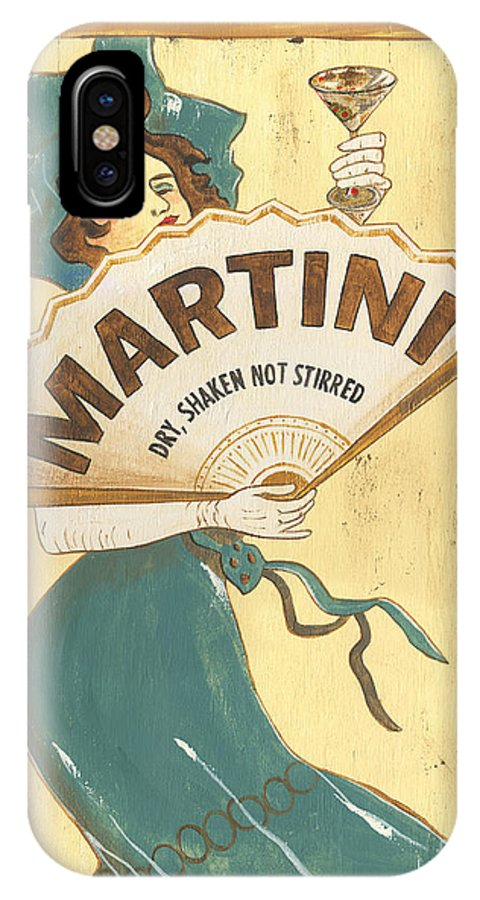 Martini IPhone X Case featuring the painting Martini Dry by Debbie DeWitt