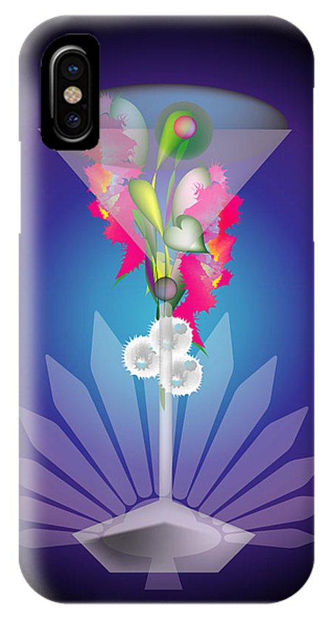 Martini IPhone Case featuring the digital art Martini Flower by George Pasini