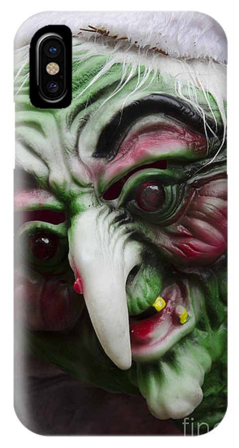 Mask IPhone X / XS Case featuring the photograph Masks Fright Night 5 by Bob Christopher